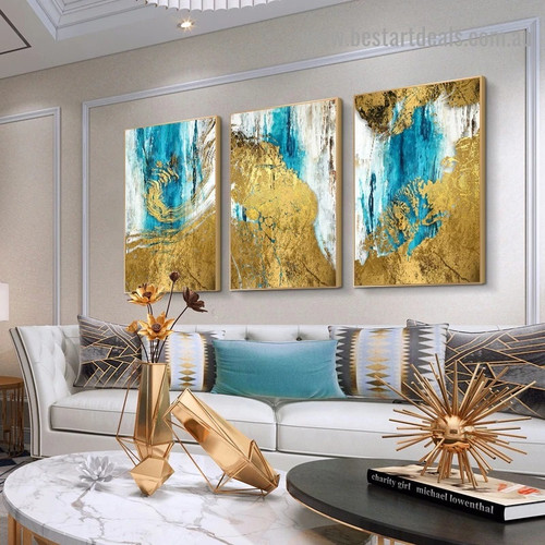 Shady Marble Abstract Modern Artwork Picture Canvas Print for Room Wall Adornment