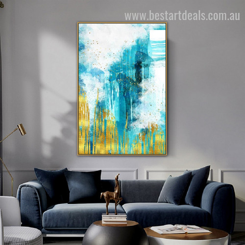 Dreamy World Abstract Modern Painting Image Canvas Print for Room Wall Garniture