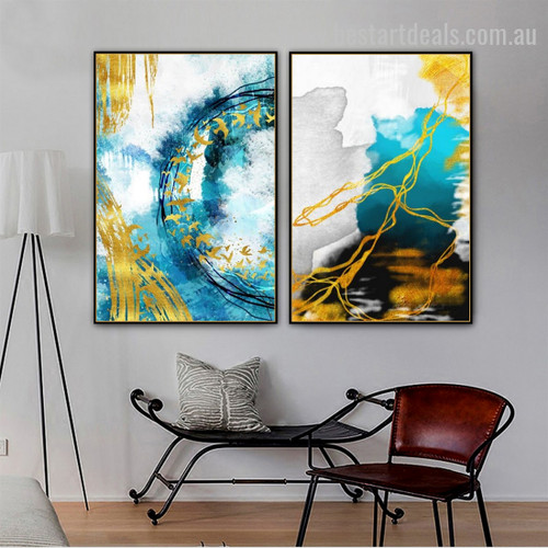 Colorful Splash Contemporary Modern Artwork Image Canvas Print for Room Wall Garnish