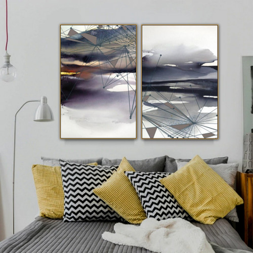 Black Water Abstract Nature Modern Artwork Pic Canvas Print for Room Wall Ornament