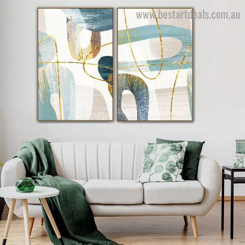 Bold Brush Stroke Abstract Modern Artwork Photo Canvas Print for Room Wall Décor