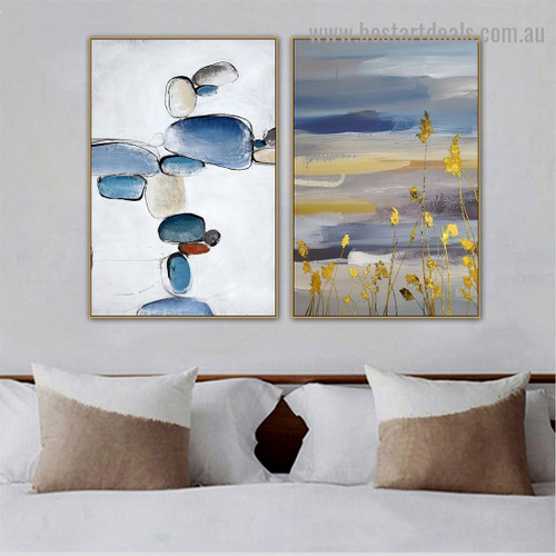 Colorful Stones Abstract Modern Nordic Artwork Picture Canvas Print for Room Wall Ornament