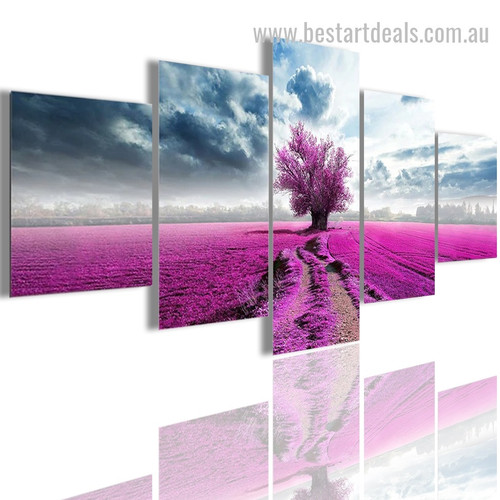 Cercis Canadensis Botanical Nature Modern Effigy Portrait Canvas Print