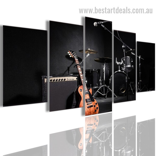 Music Band Abstract Modern Smudge Photo Canvas Print