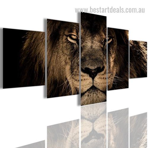 King Lion Animal Nature Modern Smudge Image Canvas Print