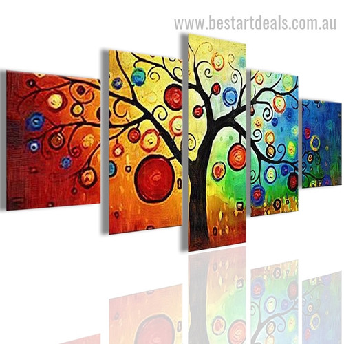 Lucky Tree Abstract Watercolor Modern Painting Pic Canvas Print