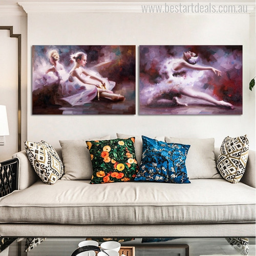Prima Ballerina Abstract Modern Figure Wall Art