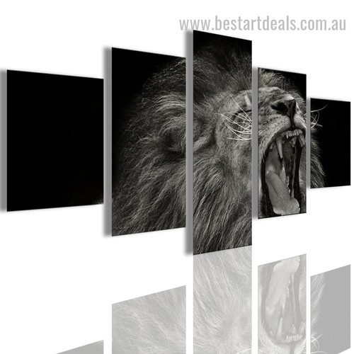 Clamouring Wild Cat Animal Modern Smudge Pic Canvas Print