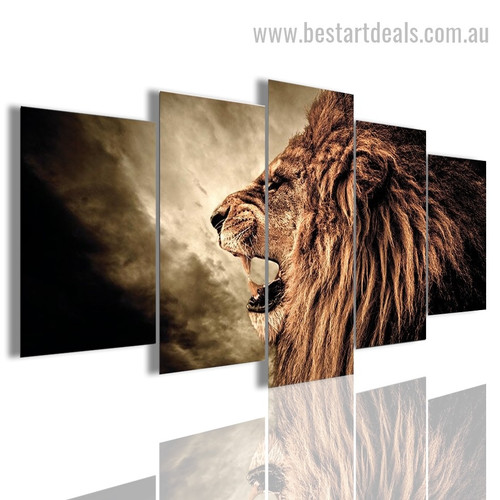 Hauling Cougar Animal Landscape Modern Framed Painting Image Canvas Print
