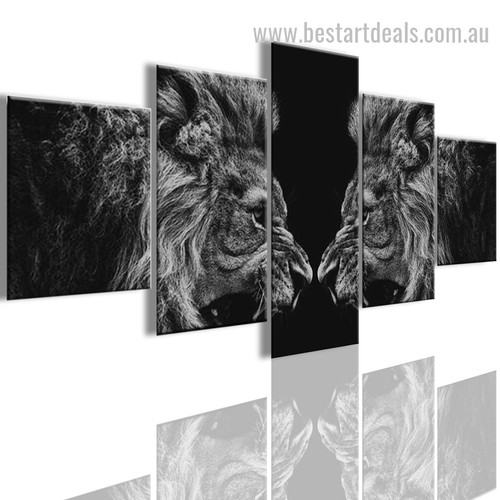 Two Beasts Animal Modern Framed Painting Image Canvas Print