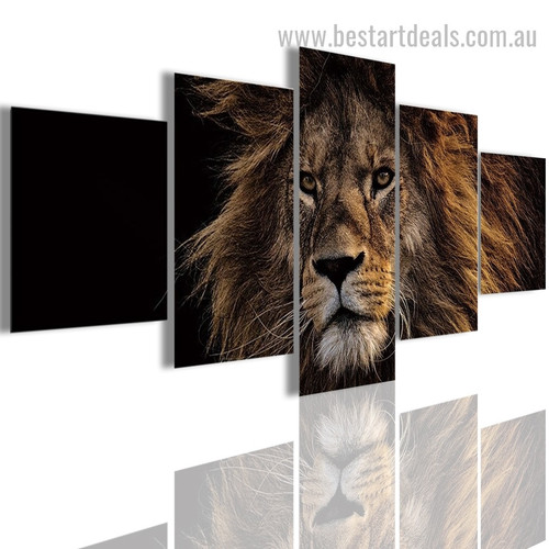 Fuming Puma Animal Modern Framed Effigy Pic Canvas Print
