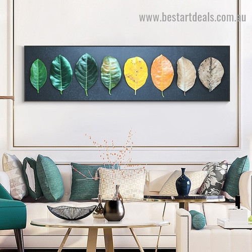 Age of Leaves Botanical Abstract Modern Artwork Picture Canvas Print for Room Wall Decoration