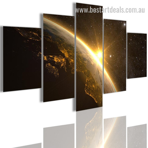 Planet Earth Nature Landscape Modern Framed Artwork Pic Canvas Print