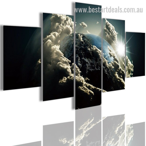 Earth Clouds Nature Landscape Modern Framed Painting Pic Canvas Print
