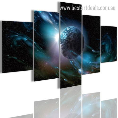 Planet Space Abstract Nature Landscape Modern Framed Portraiture Image Canvas Print