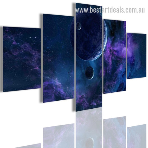 Planet Space Abstract Nature Landscape Modern Framed Portraiture Portrait Canvas Print