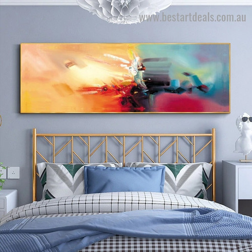 Colorful Painting Abstract Modern Artwork Portrait Canvas Print for Room Wall Adornment