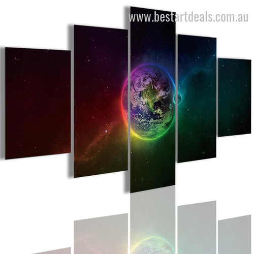 Beau Earth Nature Landscape Modern Framed Painting Photo Canvas Print