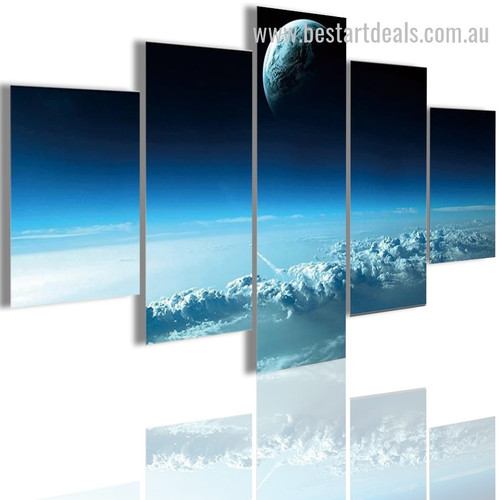 Aerospace Nature Landscape Modern Framed Artwork Picture Canvas Print