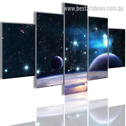 Stars And Planets Nature Landscape Modern Framed Portraiture Portrait Canvas Print