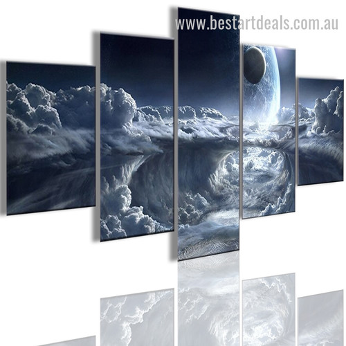 Marvelous Earth Nature Landscape Modern Framed Painting Photo Canvas Print