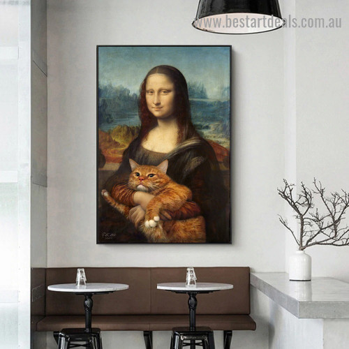 Mona Lisa IV Figure Renaissance Artwork Picture Canvas Print for Room Wall Adornment