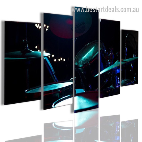 Music Drums Abstract Modern Framed Painting Pic Canvas Print