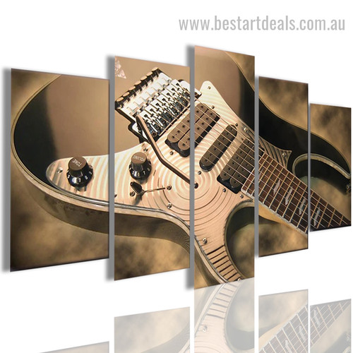 Seemly Guitar Abstract Modern Framed Portraiture Portrait