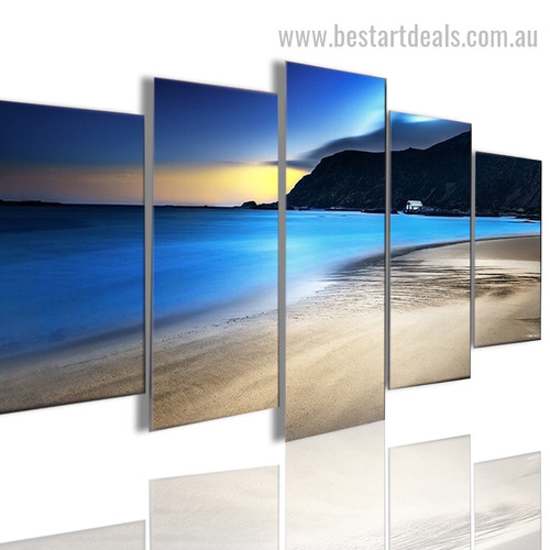 Arenaceous Beach Nature Landscape Modern Framed Effigy Picture Canvas Print