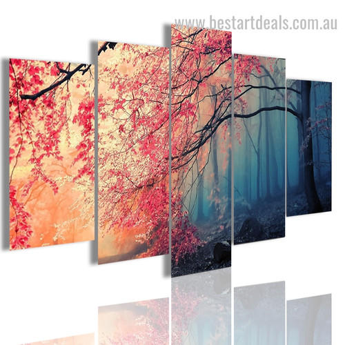 Cherry Blossoms Botanical Nature Modern Framed Artwork Picture Canvas Print