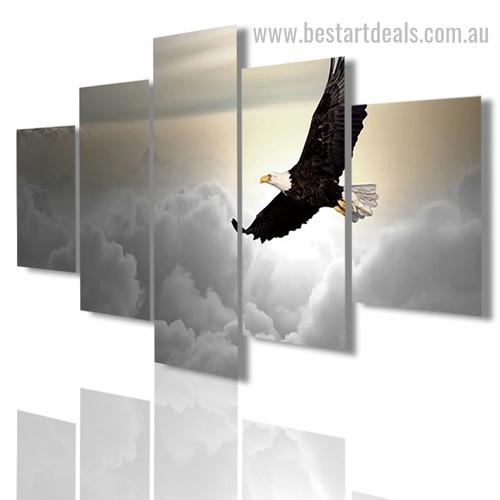 Bald Eagle bird modern framed artwork image Canvas Print
