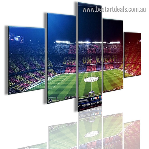 Soccer Stadium City Modern Artwork Picture Canvas Print for Room Wall Decoration