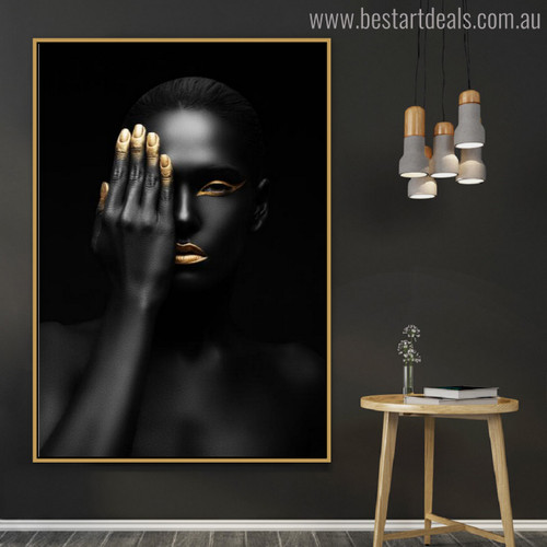 Dark Woman Modern Figure Painting Picture Print for Wall Outfit