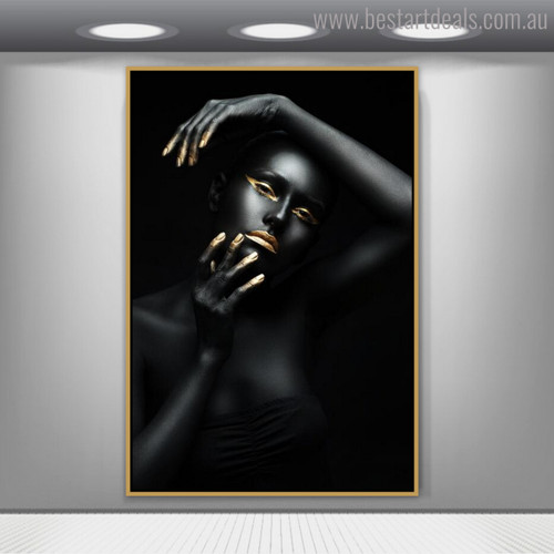 Black Female Contemporary Figure Painting Picture Print for Wall Outfit