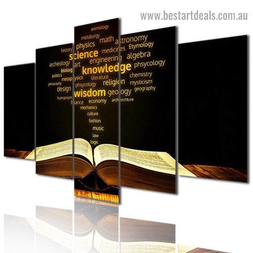 Bible Book Religion and Spirituality Modern Artwork Photo Canvas Print for Room Wall Adornment