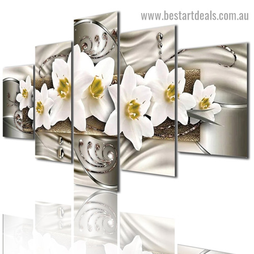 Beautiful Magnolia Flowers Abstract Botanical Modern Artwork Photo Canvas Print for Room Wall Adornment