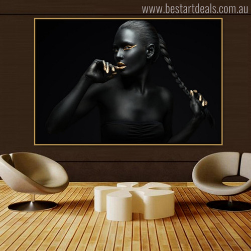 Dark Dame Modern Figure Painting Picture Print for Wall Garnish