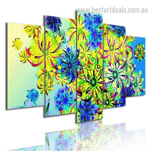 Colorific Flora Botanical Modern Framed Effigy Image Canvas Print