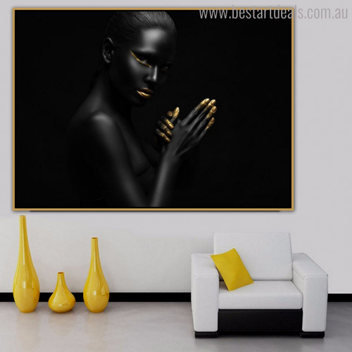 Black Distaff Modern Figure Painting Picture Print for Wall Decor