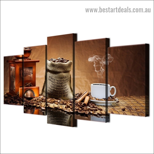 Classical Coffee Beans Food and Beverage Modern Artwork Image Canvas Print for Room Wall Garniture