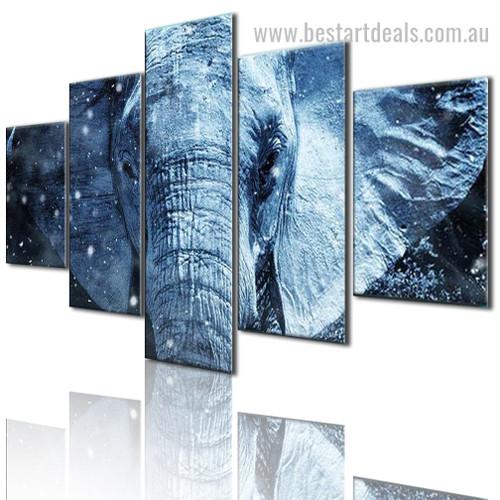 Mastodon Animal Modern Framed Effigy Photo Canvas Print