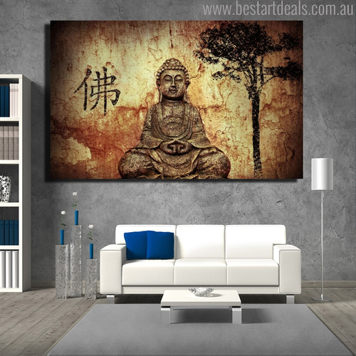 Siddhartha Gautama Religious Contemporary Painting Picture Print for Lounge Room Wall Flourish
