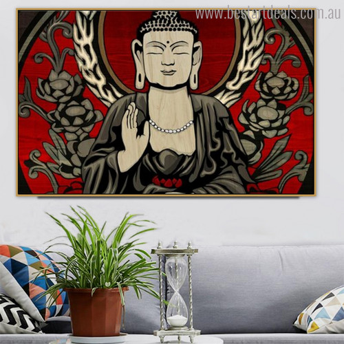Shakyamuni Buddha Pietistical Modern Painting Photo Canvas Print for Room Wall Adornment