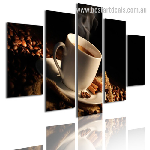Coffee Beans Food And Beverage Modern Artwork Pic Canvas Print