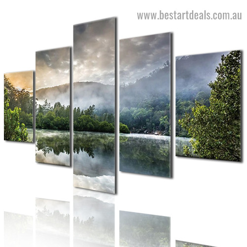 Natural Landscape Nature Modern Artwork Photo Canvas Print for Room Wall Adornment