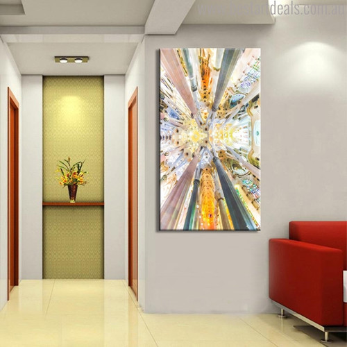 Palace Modern Abstract Architecture Painting Image Print For Wall Getup