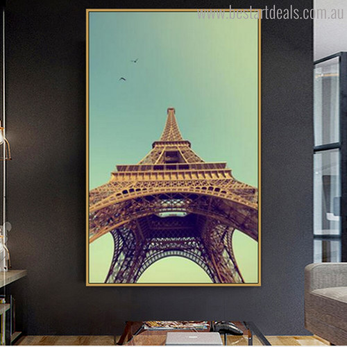 Real Eiffel Tower Modern Cityscape Painting Canvas Print for Wall Garniture