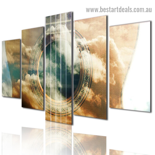 Dream Guitar Abstract Music Modern Artwork Image Canvas Print for Room Wall Décor