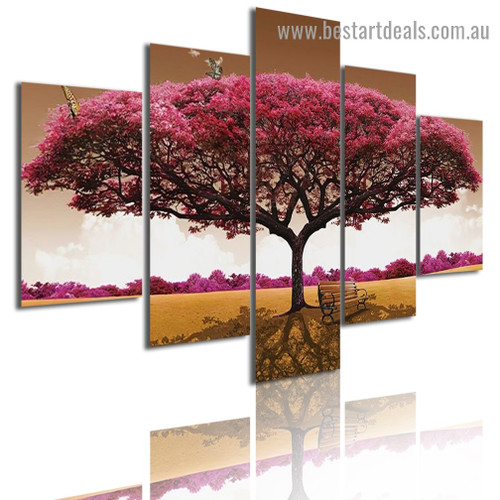 Lonely Tree Botanical Nature Modern Artwork Picture Canvas Print for Room Wall Garniture