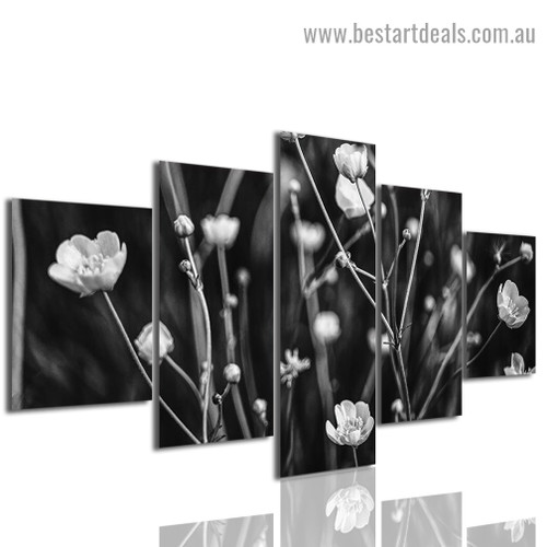 Faded Twigs Botanical Modern Artwork Image Canvas Print for Room Wall Ornament